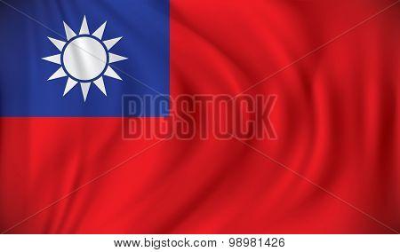 Flag of Taiwan - vector illustration