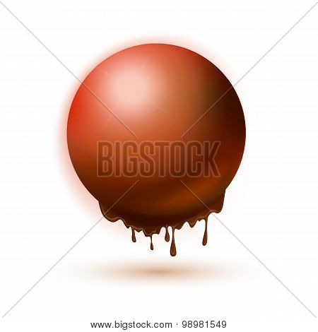 Melting Orange Sphere Concept