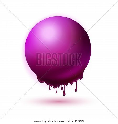 Melting Purple Sphere Concept