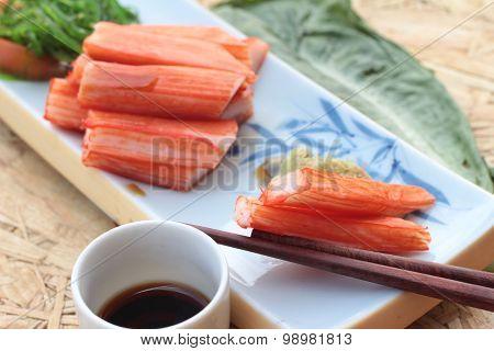 Crab Sticks On A Plate