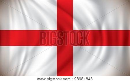 Flag of England - vector illustration
