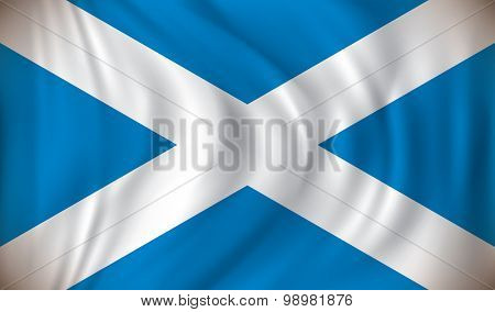 Flag of Scotland - vector illustration