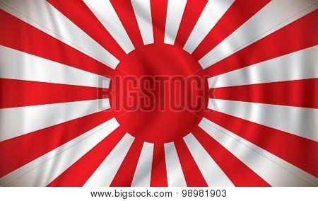 Flag of Japanese War - vector illustration
