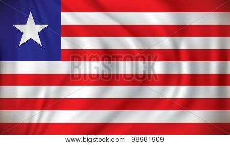 Flag of Liberia - vector illustration