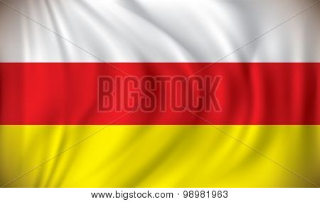 Flag of South Ossetia - vector illustration