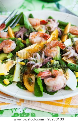 Seafood And Vegetables Salad