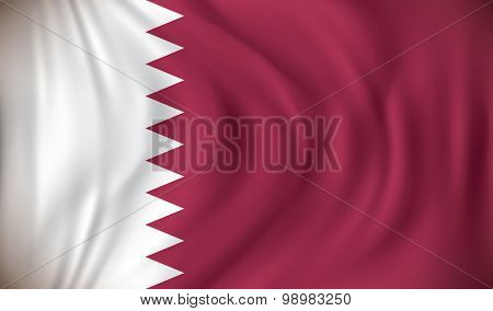 Flag of Qatar - vector illustration