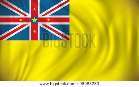 Flag of Niue - vector illustration