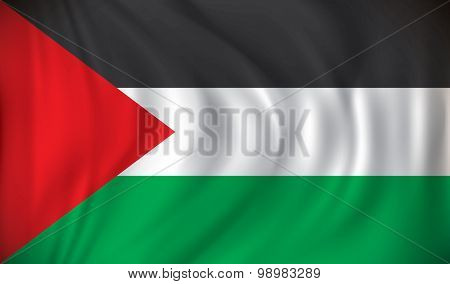 Flag of West Bank - vector illustration