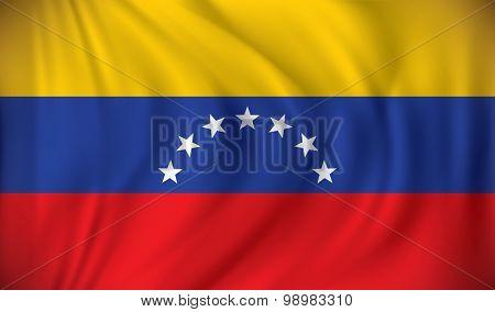 Flag of Venezuela - vector illustration