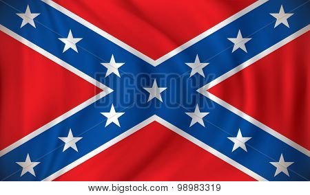 Flag of Confederate - vector illustration