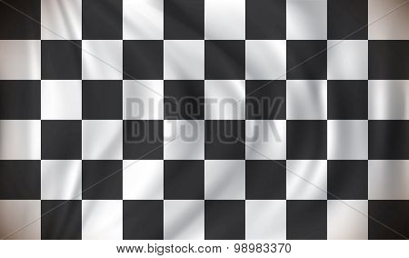 Checkered Race Flag - vector illustration
