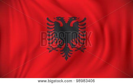 Flag of Albania - vector illustration