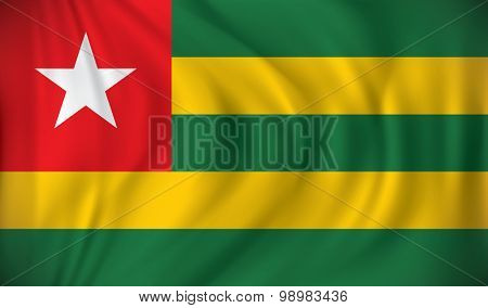 Flag of Togo - vector illustration
