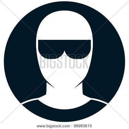 Vector Man In Sunglasses Illustration Isolated On White