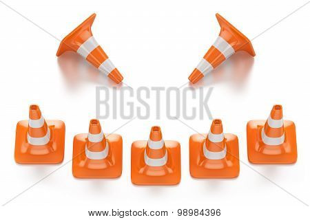 Traffic Smile Cones