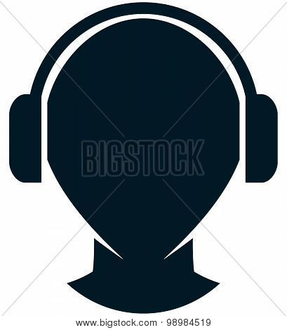Vector Headphones Illustration Isolated On White