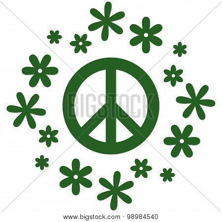 Vector Peace Symbol Illustration Isolated On White