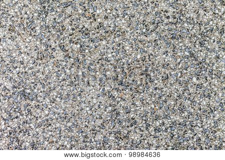 Background Surface Of Black And White Terrazzo Floor, Stone Wall