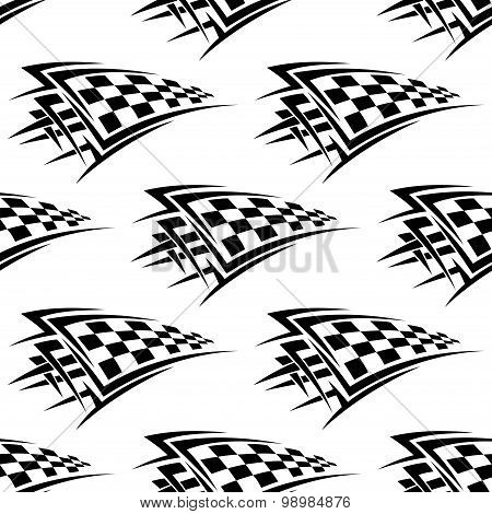 Racing checkered flags seamless pattern