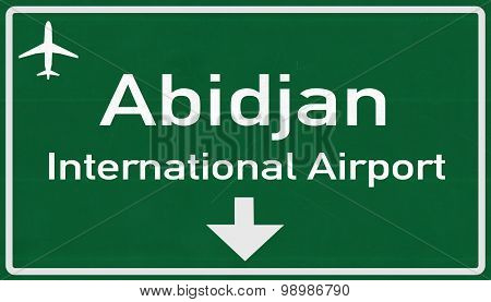 Abidjan Ivory Coast Airport Highway Sign
