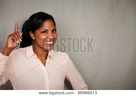 Happy Businesswoman Toothy Smiling At The Camera