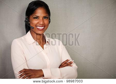 Happy Receptionist Smiling At The Camera