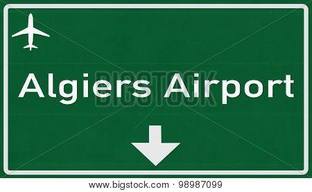 Algiers Algeria Airport Highway Sign
