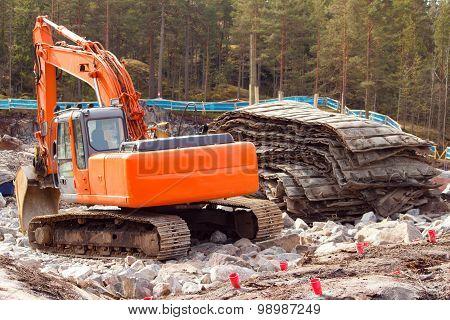 Rock blasting site