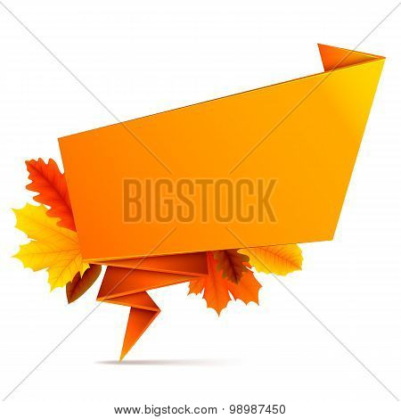 Speech Bubble with Autumn Leaves