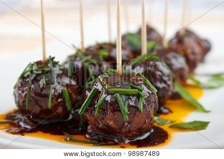 Meatball snacks