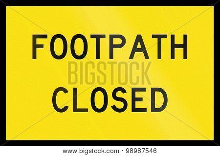 Footpath Closed In Australia