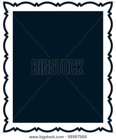 Vector Vintage Frame Isolated On White Background
