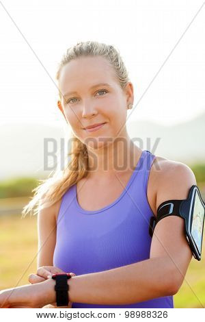 Attractive Young Sportive Woman Outdoors.