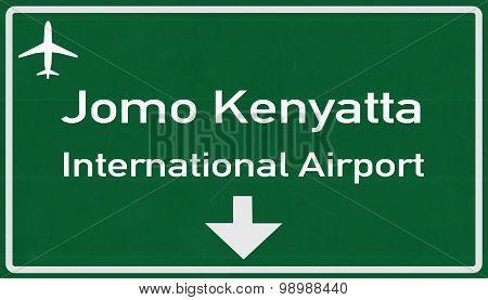 Nairobi Kenya Airport Highway Sign