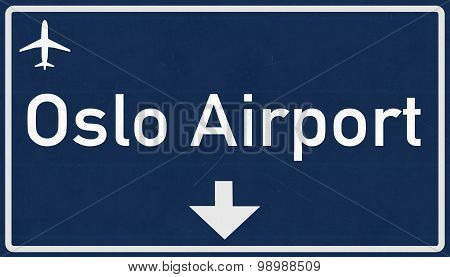 Oslo Norway Airport Highway Sign