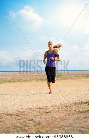 Female Runner At Seaside.