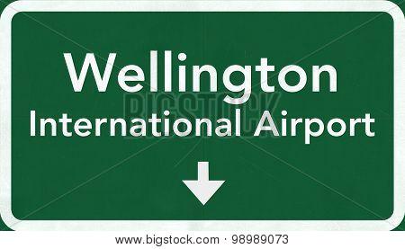 Wellington New Zealand Airport Highway Sign