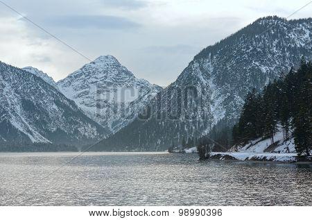 Plansee Lake (austria) Winter View.