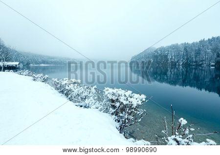 Winter Alpsee Lake