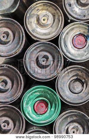 Old Rusty Spray Cans