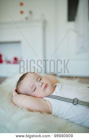 cute little sleeping boy