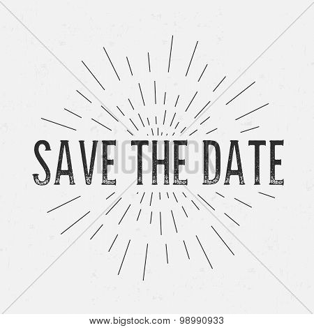 Abstract Creative concept vector design layout with text - save the date. For web and mobile icon is