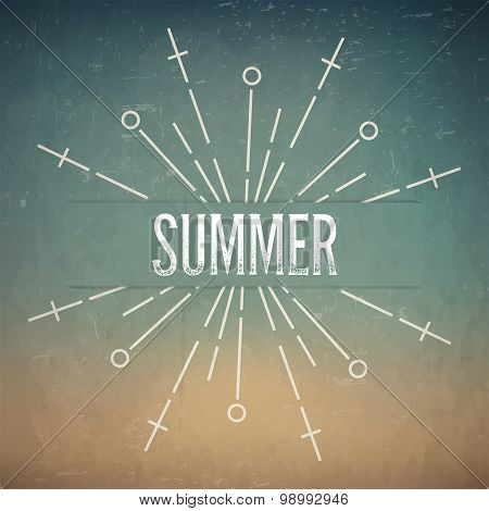 Abstract Creative concept vector design layout with text - summer. For web and mobile icon isolated