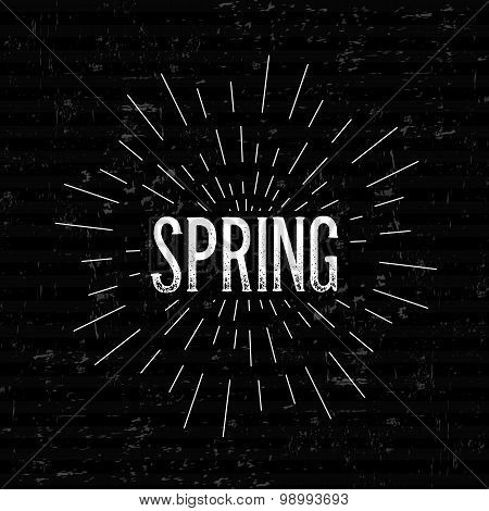 Abstract Creative concept vector design layout with text - spring. For web and mobile icon isolated