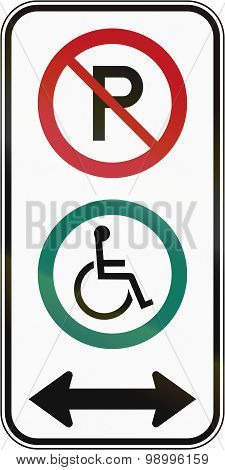 Disabled Parking In Both Directions In Canada