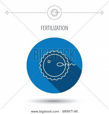 Fertilization icon. Pregnancy sign.