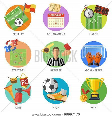 Soccer Flat Icons