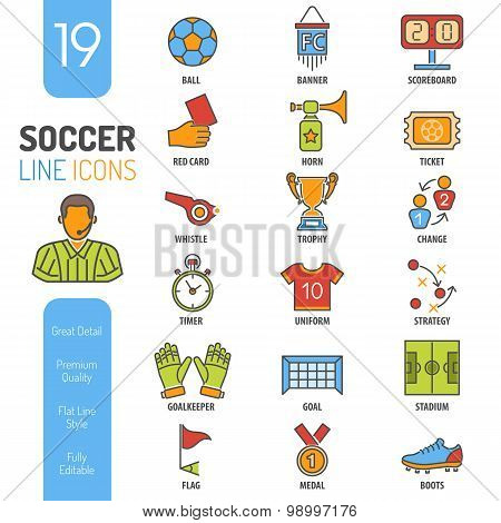 Soccer Lines Icons