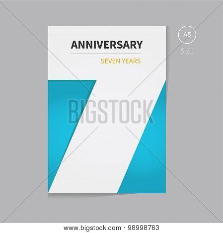Vector Anniversary Brochure Template Design